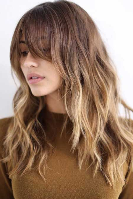 15+ Pics of Medium Length Hairstyles with Bangs and Layers
