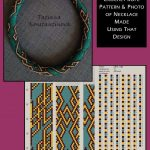 15 around bead crochet rope pattern and a photo showing what a necklace made using that pattern looks like. I did not create the pattern or necklace. I simply put the two together as I find it useful to see the finished piece next to the pattern when choosing my next project. I thought you might too. Thanks, and credit, to Tatiana Konstantinova who created the pattern and jewellery