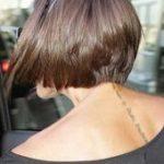 15. Hinterkopf Blick auf Victoria Beckham Kurz Braun Bob - #beckham #blick #brau...