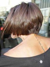 15. Hinterkopf Blick auf Victoria Beckham Kurz Braun Bob – #beckham #blick #brau…