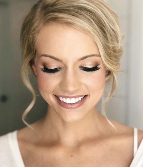 Braut Make-up-Ideen; Hochzeit Make-up für braune Augen; blaue Augen; Hochzeit Make-up für