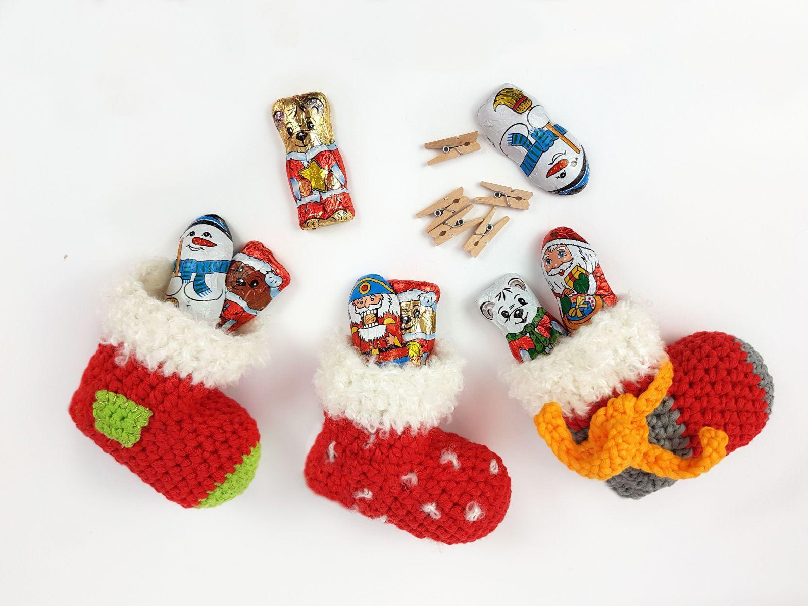 Kostenlose Häkelanleitung Nikolaussocken!