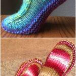 Damen gestrickte Slipper Stiefel kostenlose Muster, die Sie lieben werden