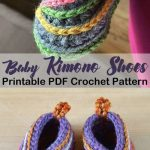 Make these cute shoes for a boy or girl! Kimono baby shoes crochet patterns – baby gift – crochet pattern pdf