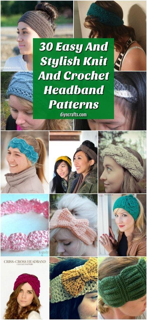 32 Easy And Stylish Knit And Crochet Headband Patterns