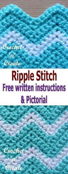 Crochet Ripple Stitch Pictorial