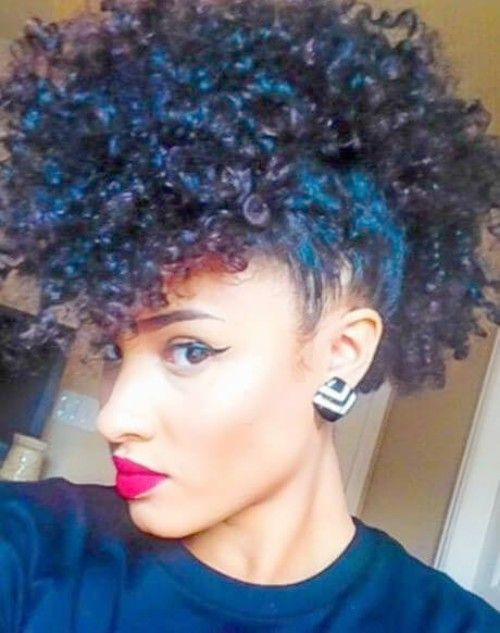 Crazy and Wild Curly Mohawk Hairstyles for You
