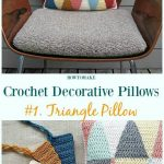 Crochet Decorative Pillow Free Patterns [Pillow case, Pillow Cover] :  Triangle ...
