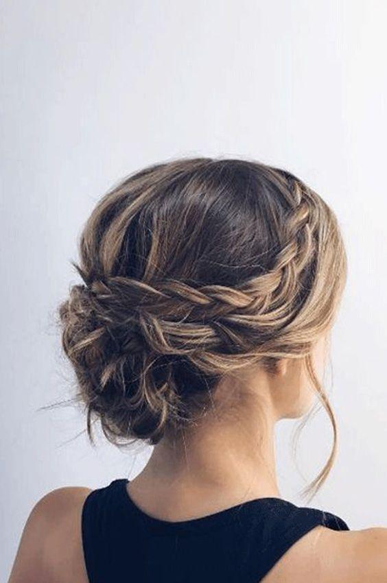 44 Trendy Updos for Medium Length Hair and Long Hair Koees Blog