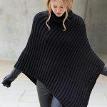 Poncho stricken: ausführliche Anleitung zum Nachmachen
