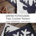 Winter Potholders Free Crochet Pattern