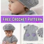 DIY Crochet Beehive Baby Dress And Hat - FREE Pattern        #Babies #baby #baby...