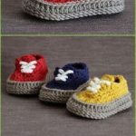 Crochet Sneaker Slipper Booties Free Patterns & Paid Baby Shoes