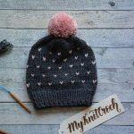 Ähnliche Artikel wie Ombré gestrickter Hut mit Pom Pom, Fair-Isle-Strickmütze...