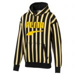 PUMA Downtown Po Graphic Men's Hoodie in Black/AOP size X Small