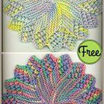 Round Sunburst Dishcloth Free Knitting Pattern