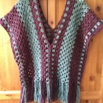 Simple Crochet Poncho pattern, Easy crochet poncho top, Granny Stitch poncho, Easy women's sweater pattern, Misty Morning Poncho Top