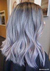 Silbernes Haar Trend: 51 Cool Grey Hair Farben und Tipps für Going Grey#fashion…
