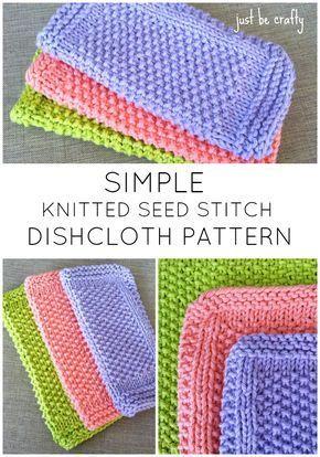 Seed Stitch Dishcloth Pattern – Free Pattern by