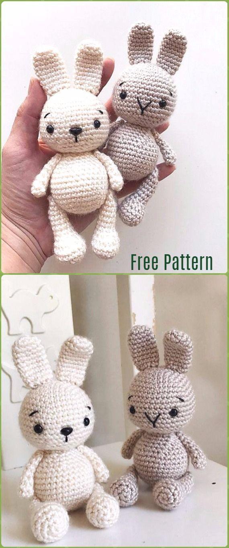 Crochet Amigurumi Bunny Toy Free Patterns Instructions