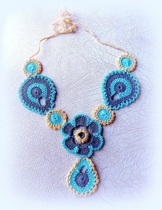 Crochet necklace pattern. Easy Crochet Jewelry