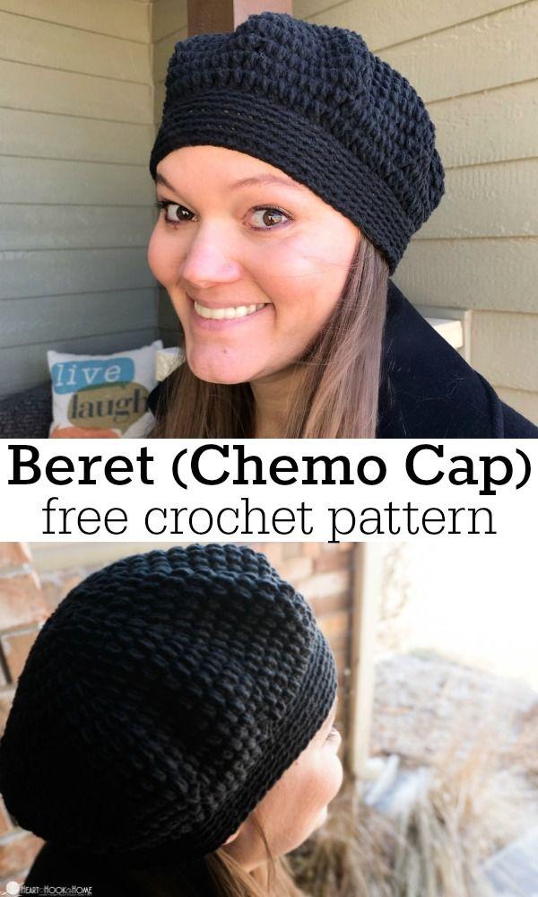 Lazy Day Beret: Chemo Cap Crochet Pattern