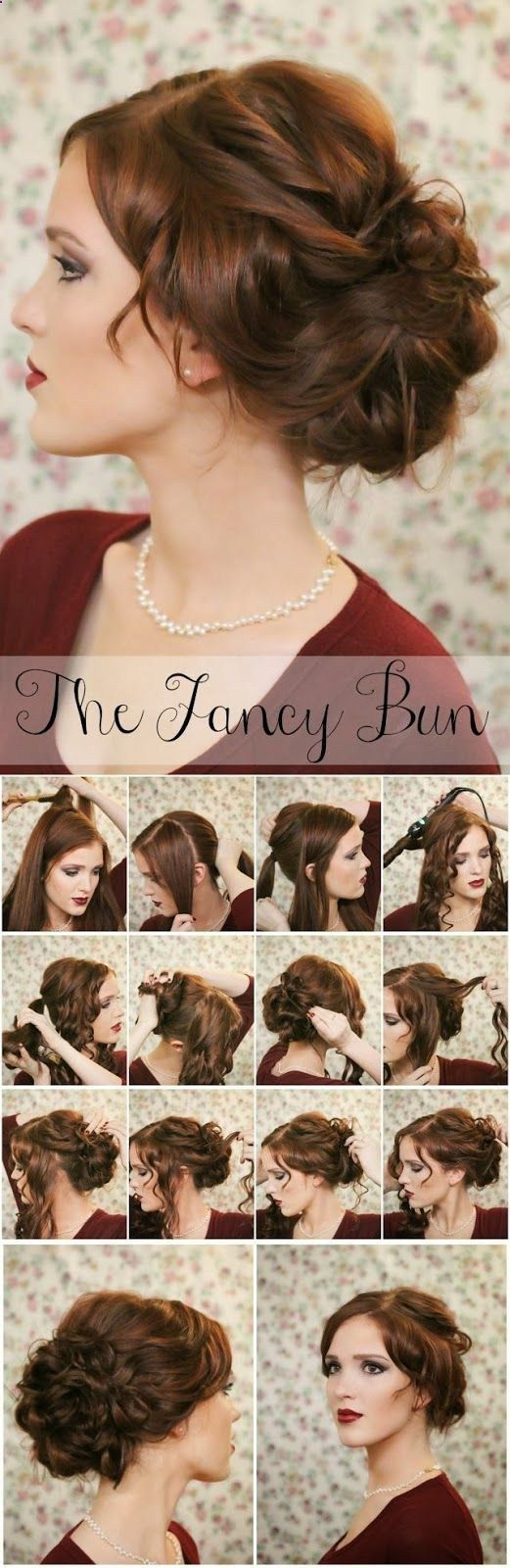 16 Pretty and Chic Updos for Medium Length Hair – Pretty Designs