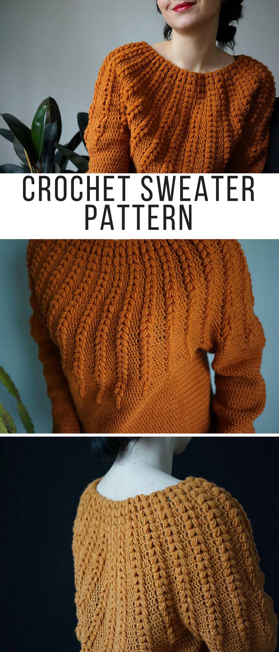 Goldenrod Sweater Crochet pattern by ElevenHandmade