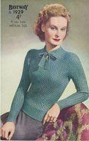 20 1940er Jahre Damen Pullover Vintage Strickmuster   İdeen ,  #1940er #damen #…