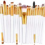 20 Pc Stern Makeup Brush Set - 6 Colors