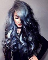 20 grau-blaue Haarfarbe Trend für Frauen#BeautyBlog #MakeupOfTheDay #MakeupByMe…