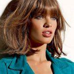 2014 Medium Hairstyles with Blunt Bangs