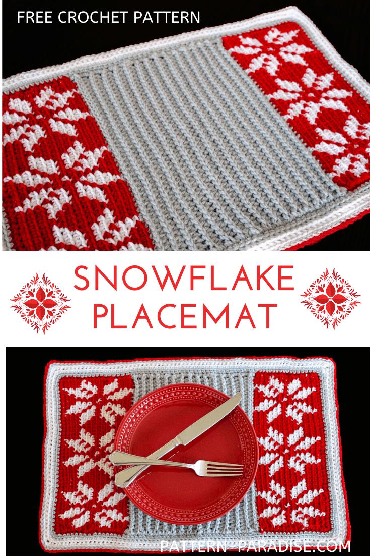 2019 Christmas Blog Hop – Snowflake Placemat