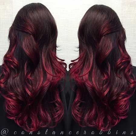 25 Burgund Rot Haarfarbe Ombre StilRot Ombre Farbe Rot