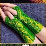 25 Crochet Fingerless Gloves Wrist Warmer Free Patterns