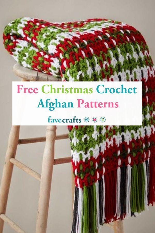 25 Free Christmas Crochet Afghan Patterns