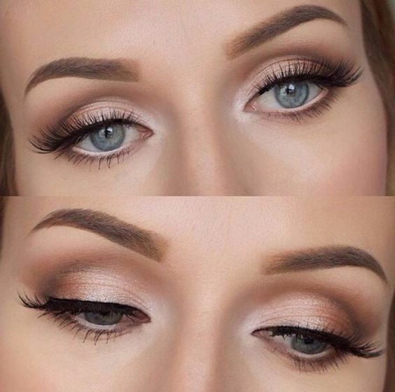 25+> Pretty Eye Makeup for the Wedding Day # Herring Makeup #Halbalbeauty #Weddings #Wedding … – New Site