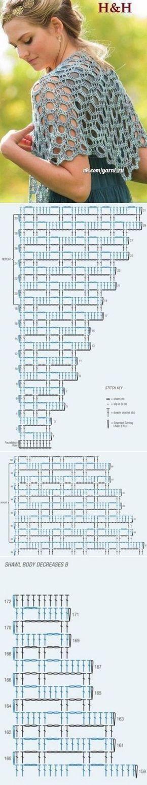 27+ ideas crochet scarf triangle lace shawl  #knitting #crochet #amigurumi #croc…