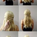 29 Five minutes of beautiful and simple hairstyle – long hairstyles