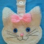 3 D Kitty Cat Crochet Towel Topper pattern by LinMarie Creations