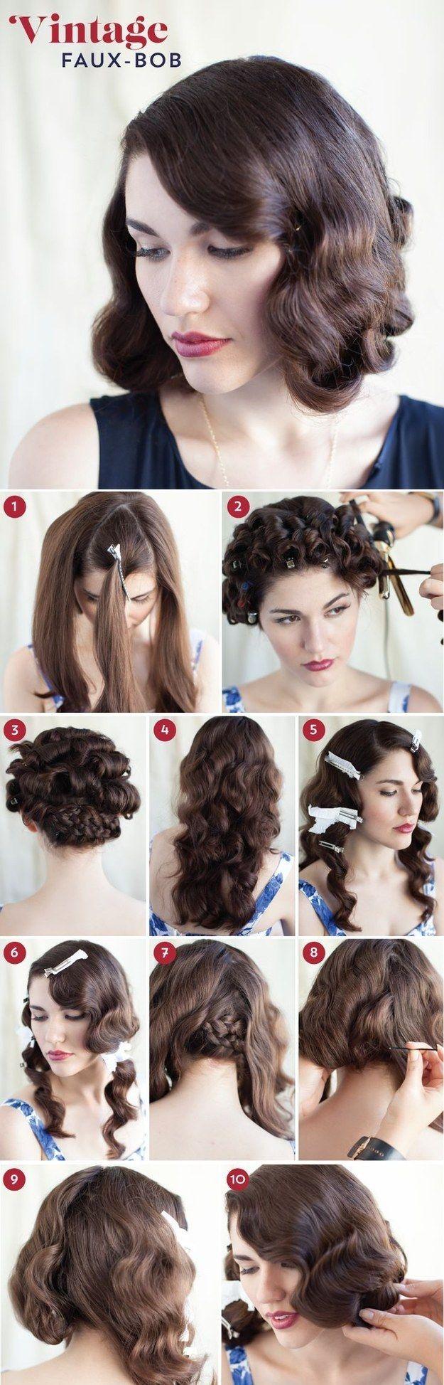 30 DIY Vintage Hairstyle Tutorials for Short, Medium, Long Hair