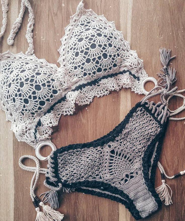 30 Mejores Bikini de ganchillo y traje de baño sin patrón 2019