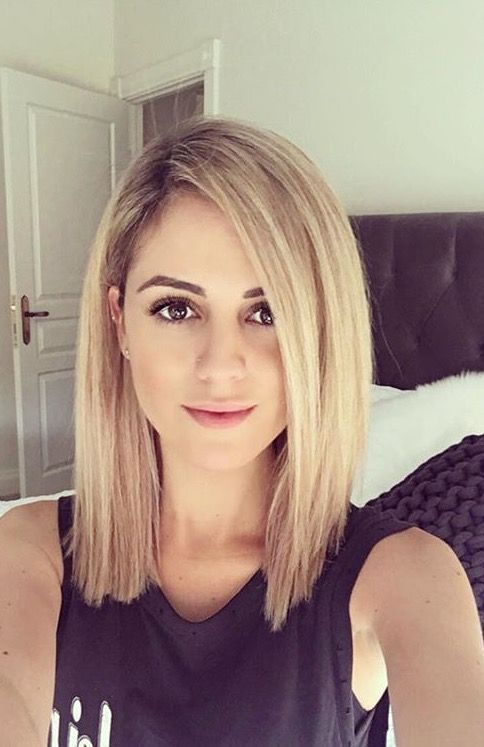 30+ Straight Medium Length Haircuts and Colors for Women In 2019