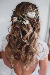 30 Wedding Hair Half Up Ideas        #Hair #Ideas #Wedding #weddingdeko #wedding…
