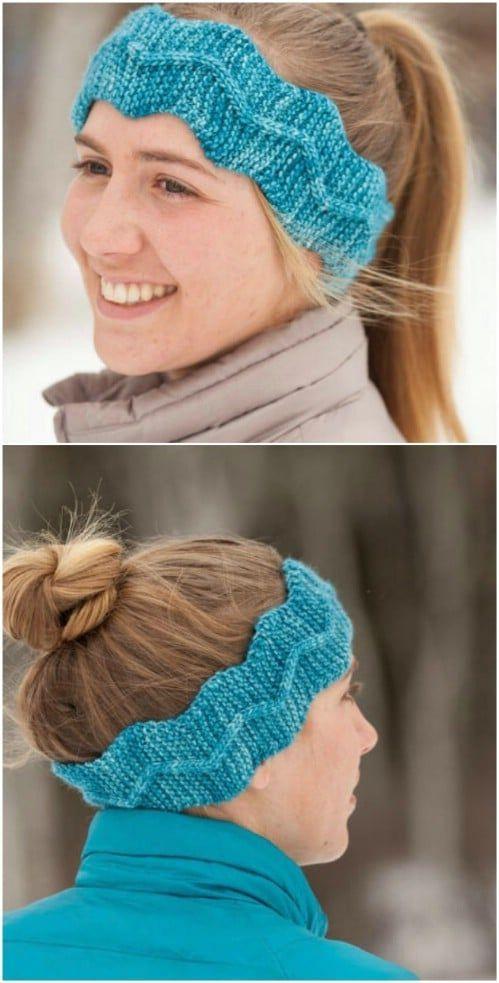 32 Easy And Stylish Knit And Crochet Headband Patterns #knitheadbandpattern 32 E…