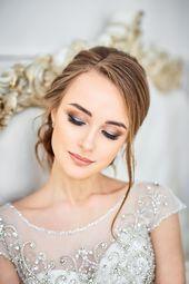 35 Ideas for beautiful bride makeup and styling tips – Wedding box   #brautstyli…