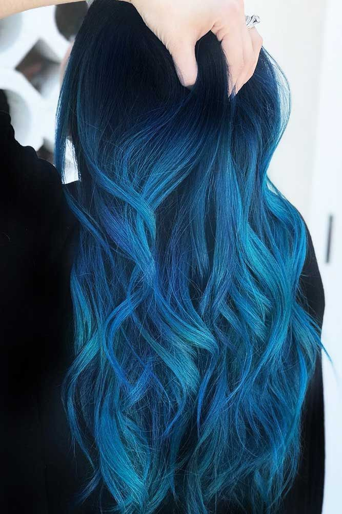 35 Tasteful Blue Black Hair Color Ideas To Try In Any Season