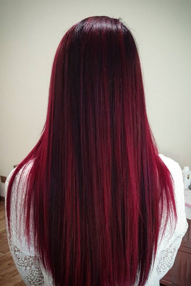 37 Best Red Ombre Hair Color Ideas for Long Hair #Hair Color # Ideas #Long #ombre