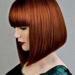 37 moderne mittlere Frisuren mit Pony für einen neuen Look,  #einen #Frisuren #für #Mit #mitt...
