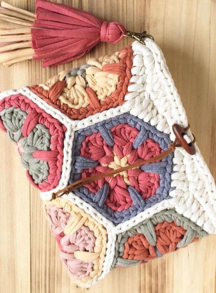 39+ Cute Crochet Free Bag Pattern Design Ideas and Images, #Bag #Crochet #crochetbag #cute #D…